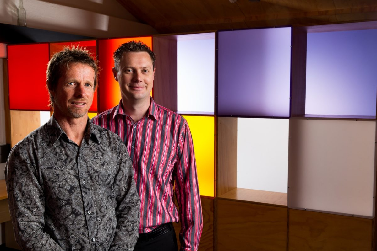 AGILE SOFTWARE DEVELOPMENT SPECIALISTS: Company-X co-founders and directors Jeremy Hughes, left, and David Hallett.